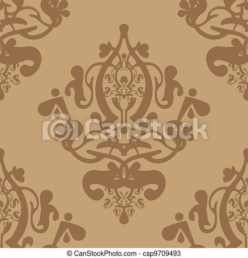 Vector beige wallpaper - csp9709493