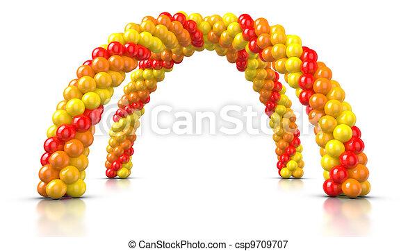Double Arch Balloons - csp9709707