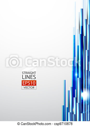 Blue straight lines abstract background - csp9710878