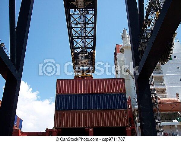 Shipping Gantry Crane Operations - csp9711787
