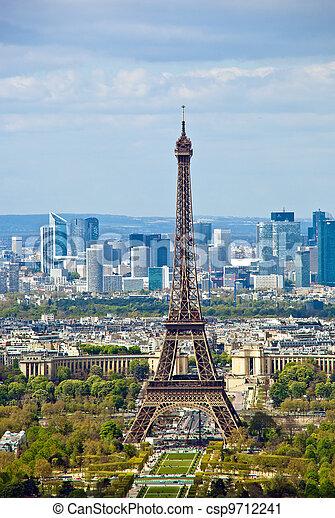 paris, france. the eiffel tower - csp9712241