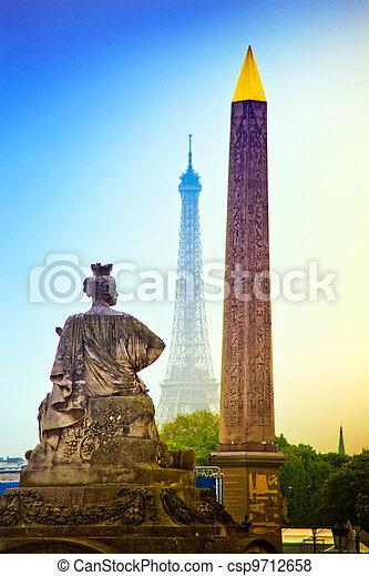 paris, france. place de la concorde. - csp9712658