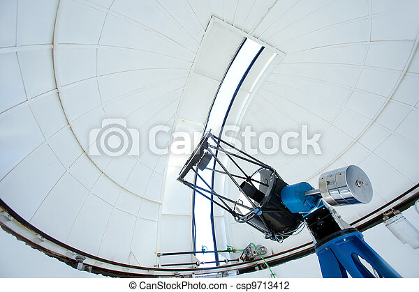 Astronomic observatory telescope in a dome - csp9713412