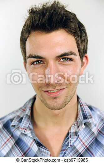 portrait of a young casual man - csp9713985
