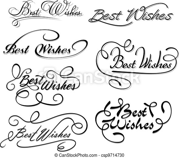 Best wishes calligraphic elements - csp9714730