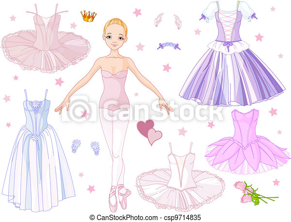 Ballerina with costumes  - csp9714835