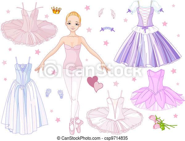Ballerina with costumes  - csp9714835