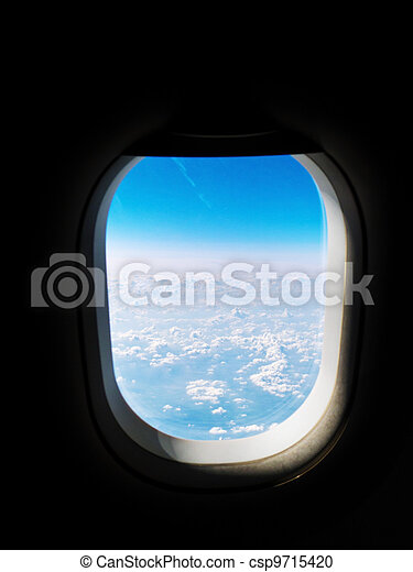 view from an airplane window - csp9715420