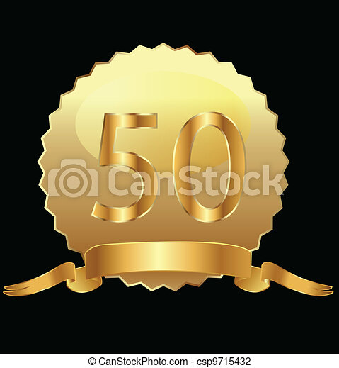 50th anniversary gold vector - csp9715432