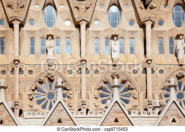 Barcelona Sagrada Familia cathedral by Gaudi - csp9715453