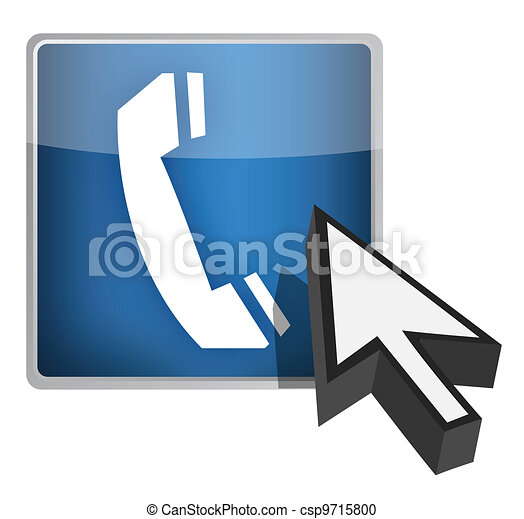 Call us blue button and cursor - csp9715800