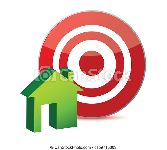 target and house illustration - csp9715803