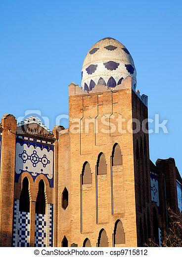 Barcelona bullring La Monumental mosaic egg - csp9715812