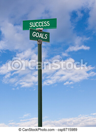 Success-Goals Sign - csp9715989