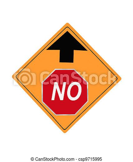 No Up Ahead Sign - csp9715995