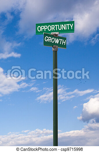 Opportunity-Growth Sign - csp9715998