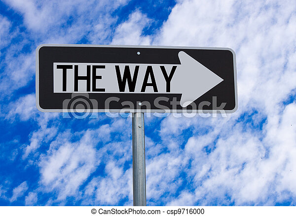The Way Directional Sign - csp9716000