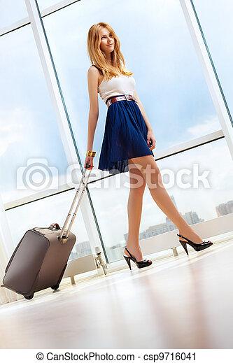 Young woman walking - csp9716041