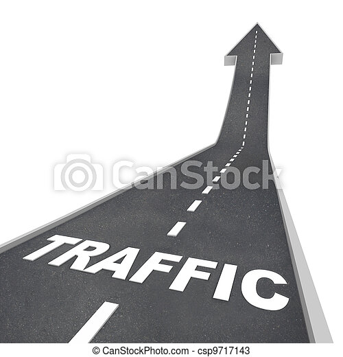 Traffic Rising Up Arrow Road Web Transportation - csp9717143