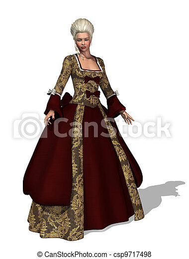 18th Century Roccoco Lady - csp9717498
