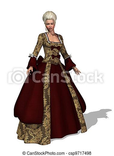 18th Century Roccoco Lady - csp9717498