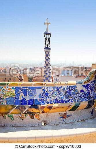 Barcelona Park Guell of Gaudi modernism - csp9718003