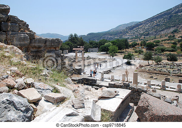 Part on the locality of Ephesus - csp9718845