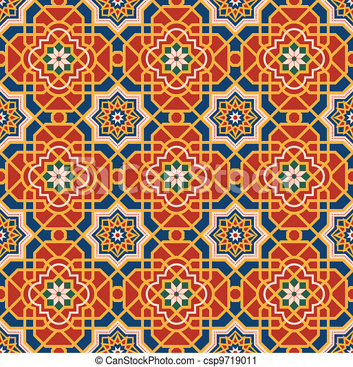 Arabesque seamless pattern - csp9719011