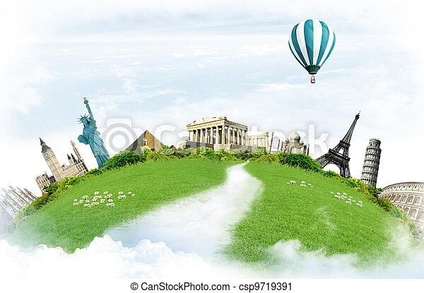 Travel around the world - csp9719391