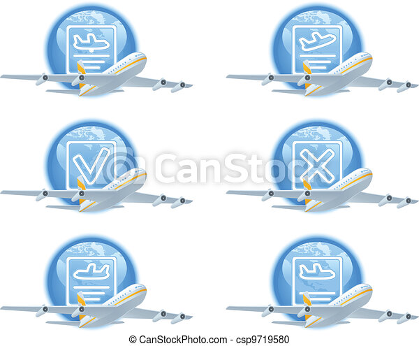 Flight status icon set - csp9719580