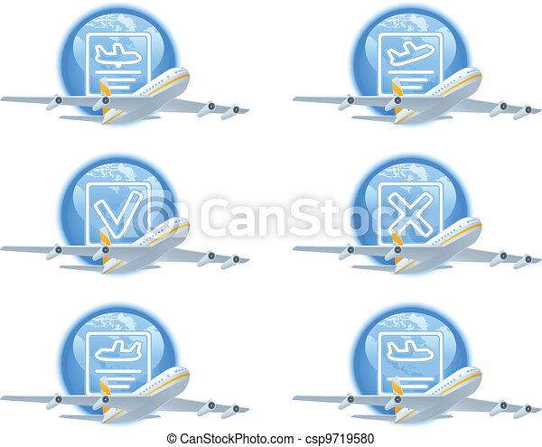 Flight status icon set - csp9719580