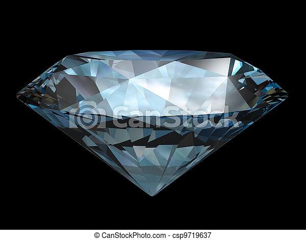 Diamond over black - csp9719637