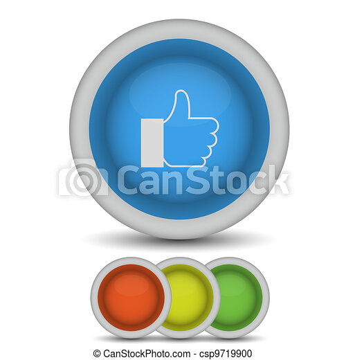 Vector thumbs up icon on white. Eps10 - csp9719900