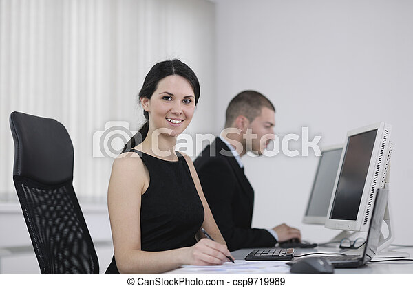 business people group working in customer and help desk office - csp9719989