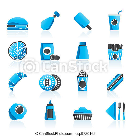 fast food and drink icons - csp9720162