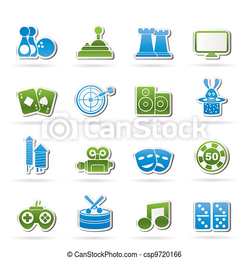 entertainment objects icons - csp9720166
