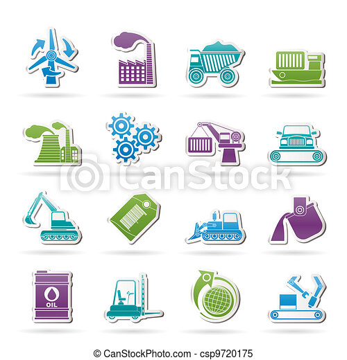 business and industry icons  - csp9720175