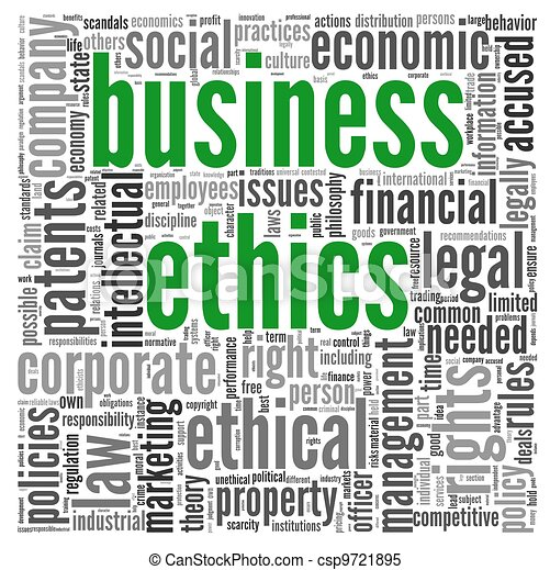 Business ethics concept in tag cloud - csp9721895