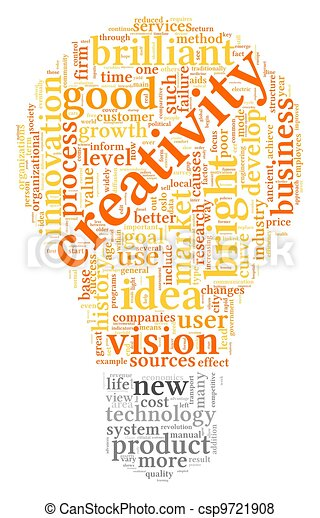 Creativity words in tag cloud - csp9721908