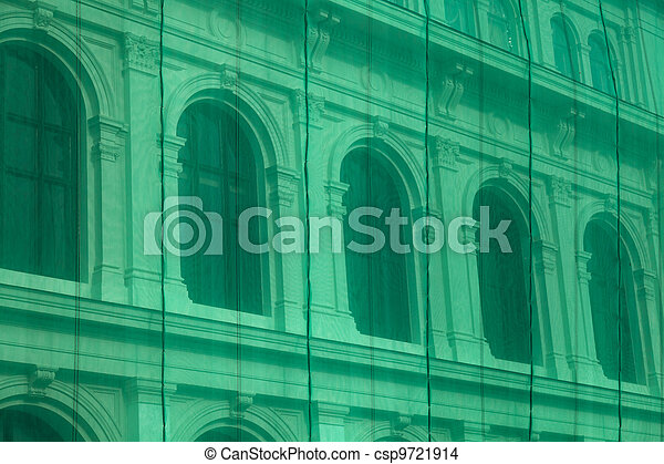 Neoclassical building renovation - csp9721914
