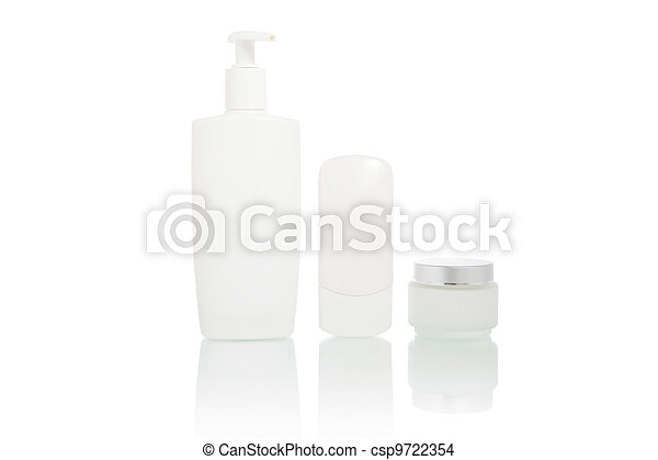 White bottles set (beauty hygiene container) - csp9722354
