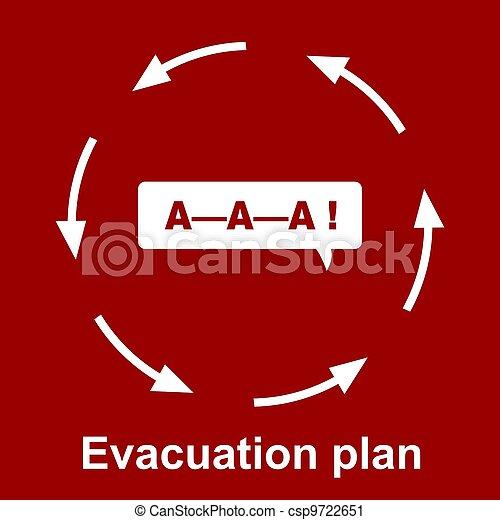 Emergency evacuation plan  - csp9722651