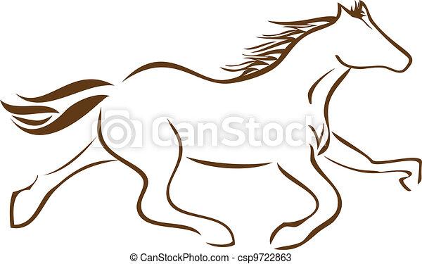 Racing Horse logo vector stock - csp9722863