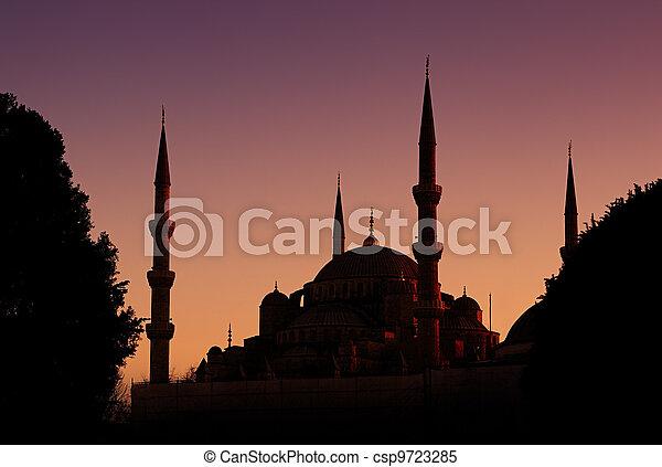 Blue Mosque in Istanbul, Turkey - csp9723285