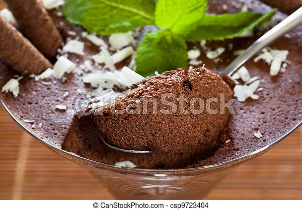 Chocolate mousse - csp9723404