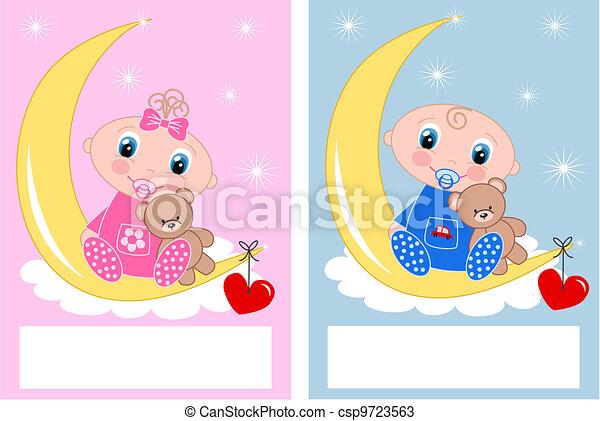 Vector   Baby Shower Newborn Babies