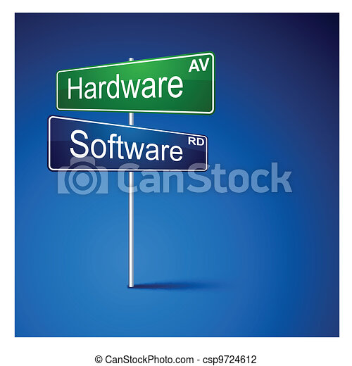 Hardware software direction road sign.  - csp9724612