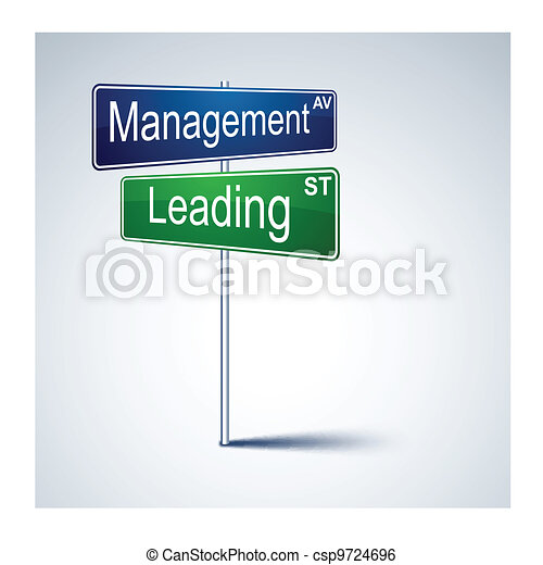 Management leading direction road sign.  - csp9724696