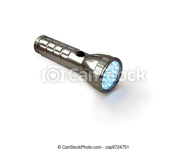 Modern pocket flashlight. - csp9724751