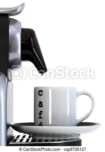 coffee cup and expresso machine - csp9726127